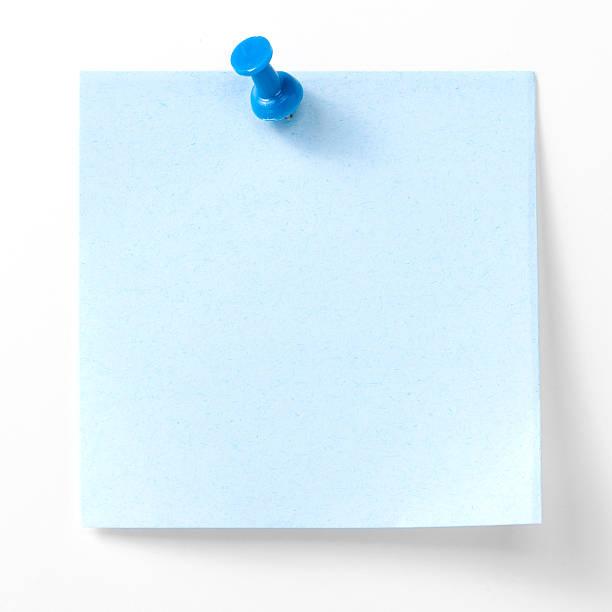 Blue Sticky Note stock photo