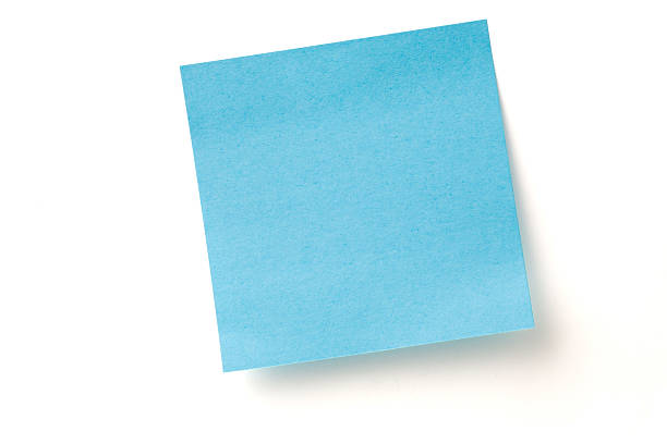 Blue Sticky Note stock photo