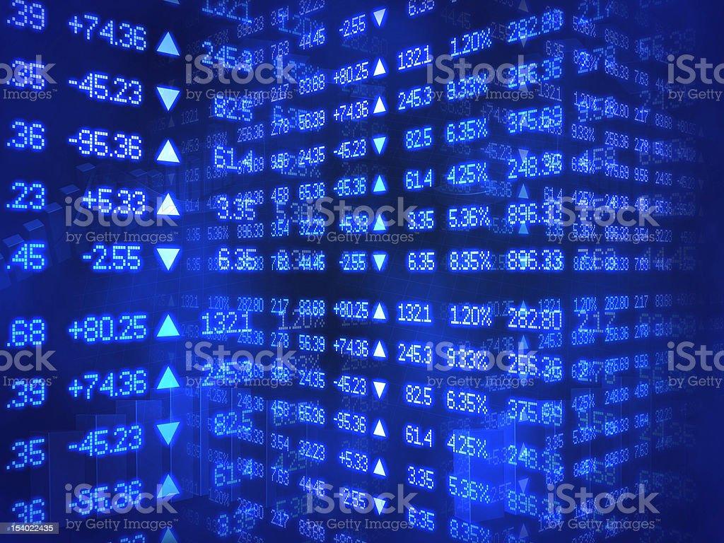 Blue Stock Market Ticker stock photo