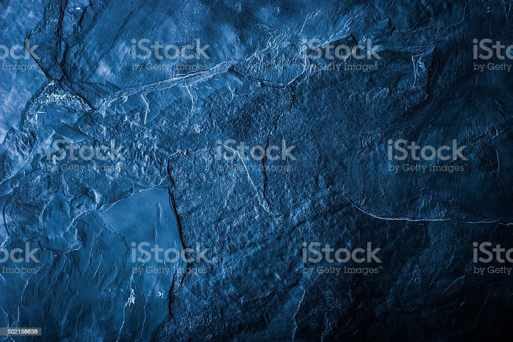 Blue stone background stock photo
