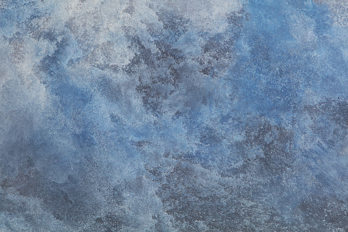 Blue stone background with high resolution. Top view. Copy space.