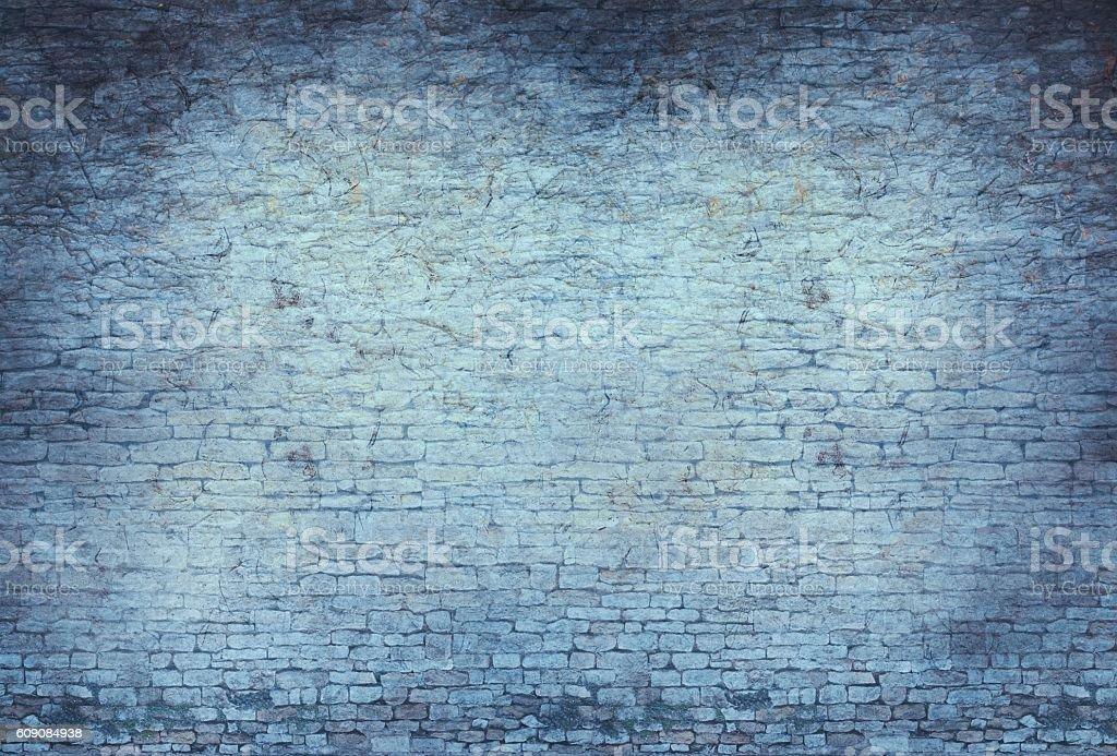 Blue Stone Wall Background stock photo