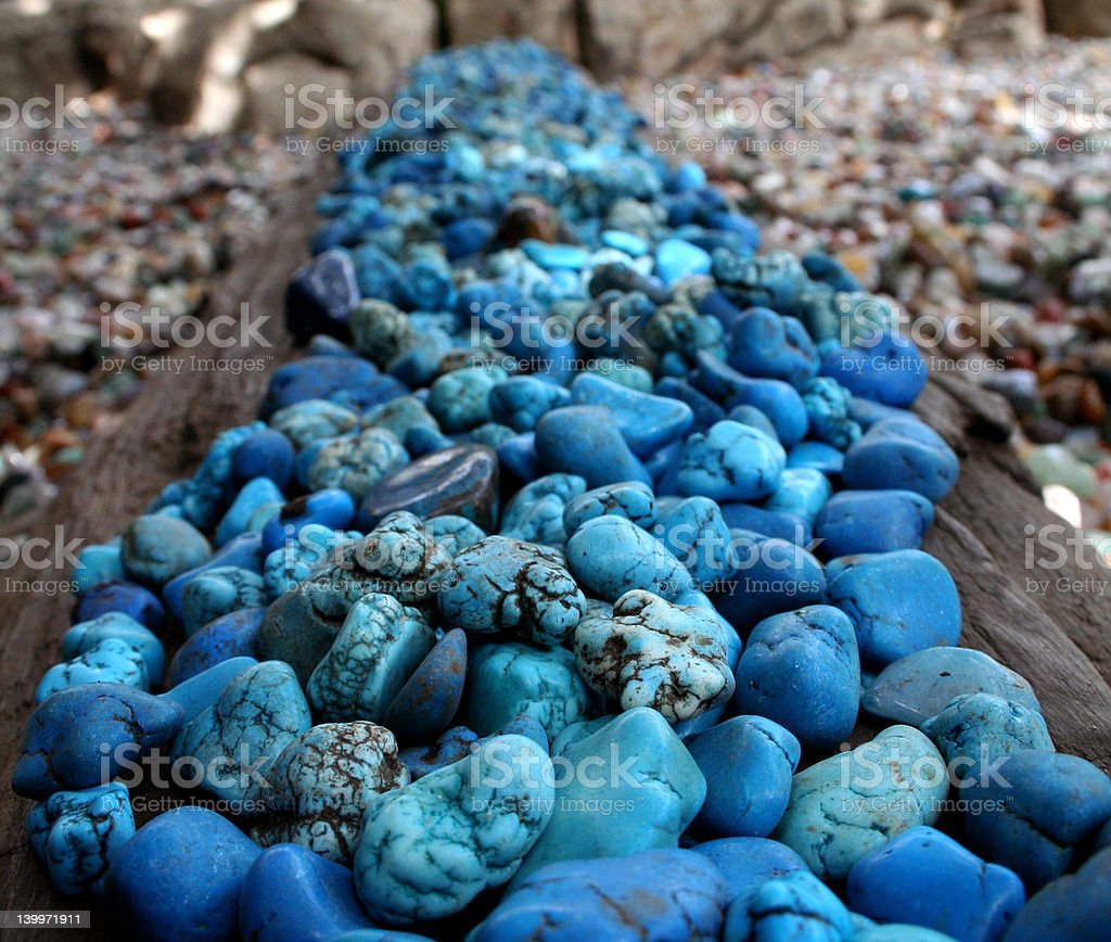 Blue Stones Perspective royalty-free stock photo