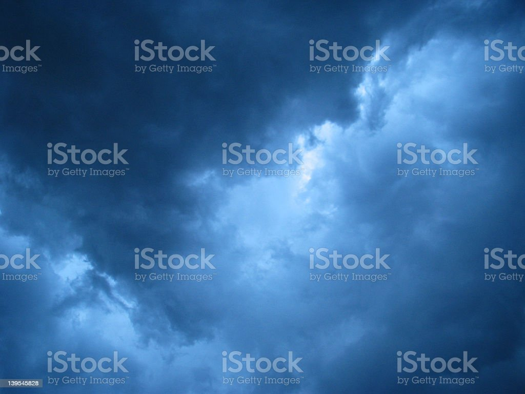 Blue Storm Clouds royalty-free stock photo