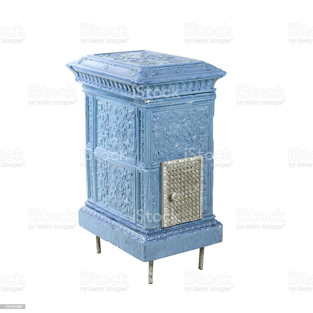 blue stove stock photo