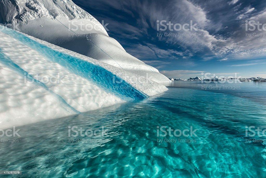 Blue Stripe Iceberg in Greenland stock photo