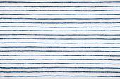 Blue striped fabric Linen close-up