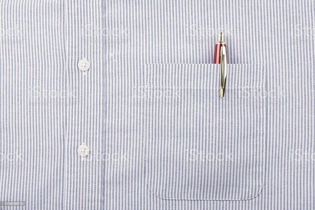 Camisa azul a rayas Bolsillo y lápiz - foto de stock