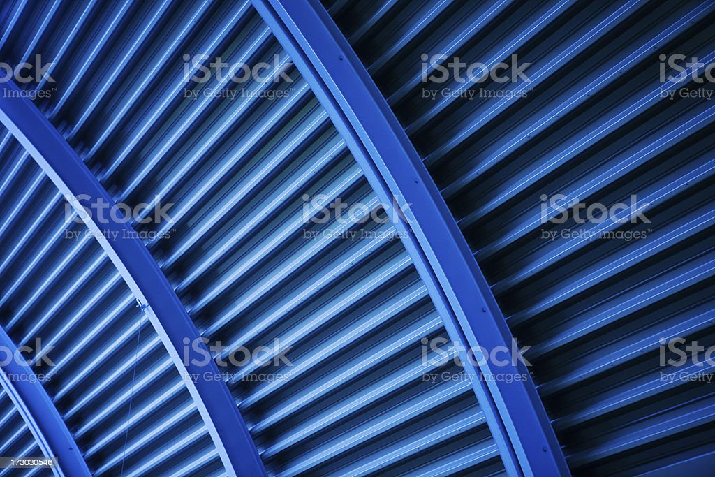 blue striped wall royalty-free stock photo