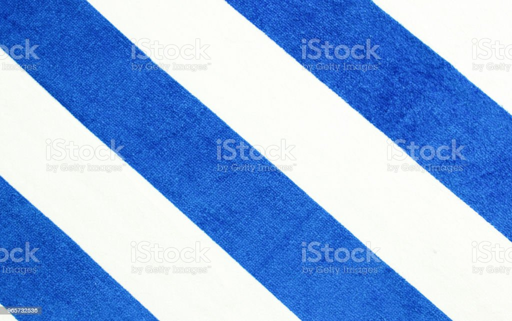 Blue stripes towel background.Summer beach concept banner. - Royalty-free Advertisement Stock Photo