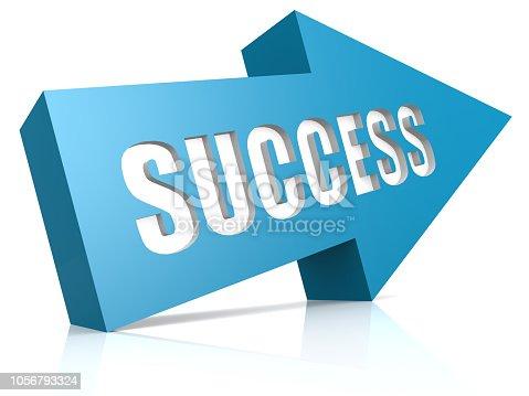 1014851396 istock photo Blue success arrow 1056793324