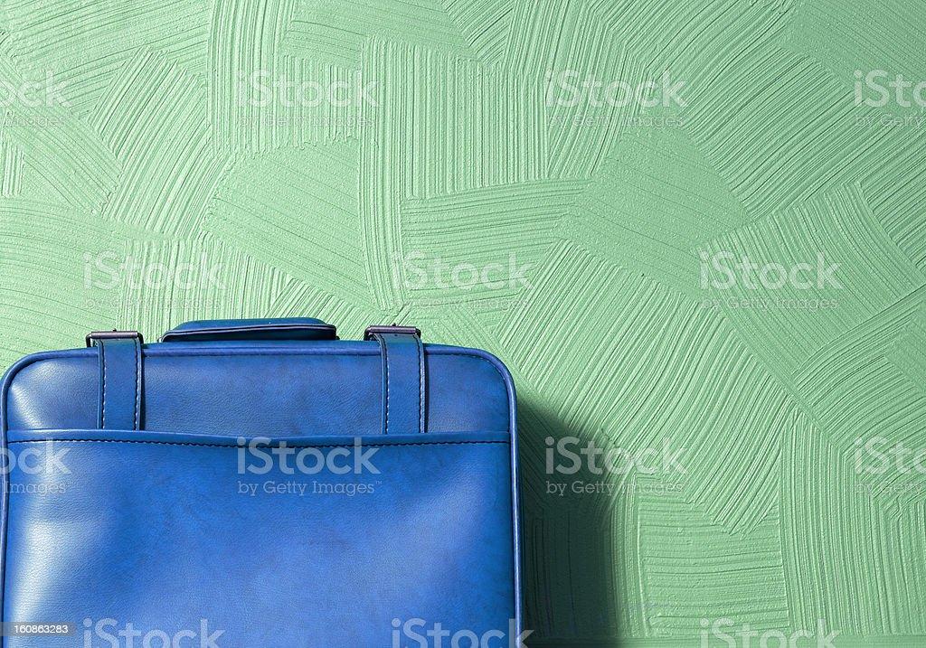 Blue Suitcase stock photo