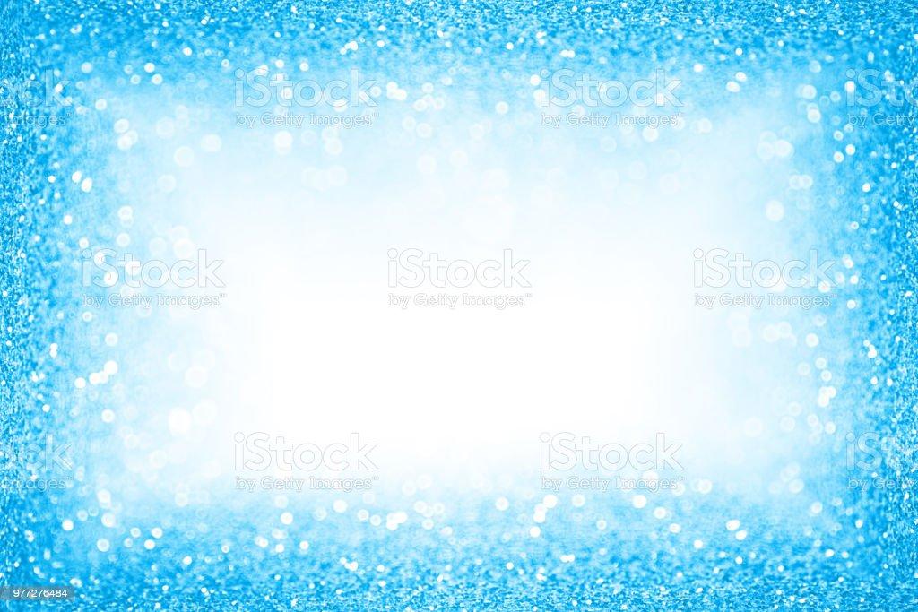 Azul piscina verão festa borda Frame Sparkle fundo - foto de acervo