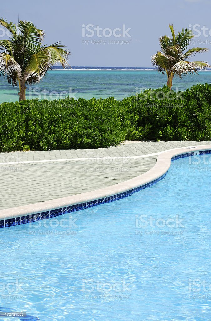 Blue summer relaxation royalty-free stock photo