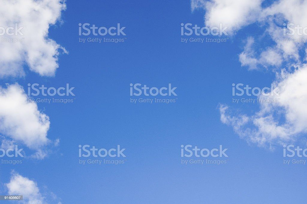 Blue summer sky with white clouds royalty-free stock photo