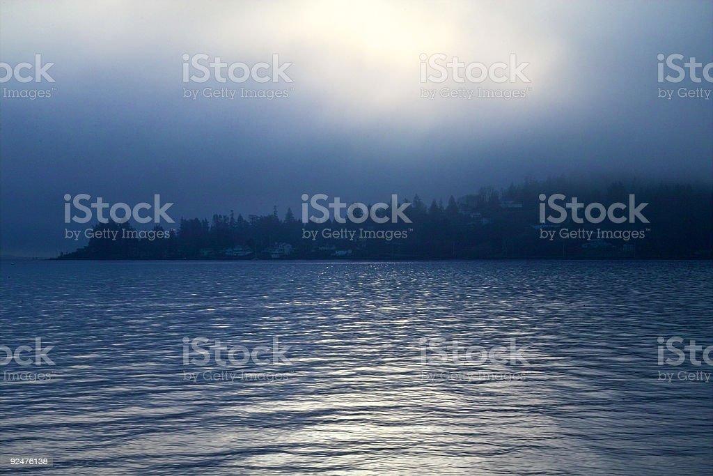 Blue Sunrise 2 royalty-free stock photo