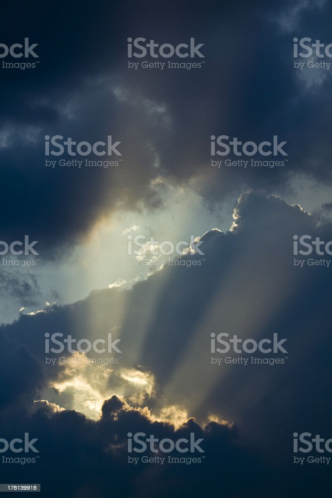 blue sunset royalty-free stock photo