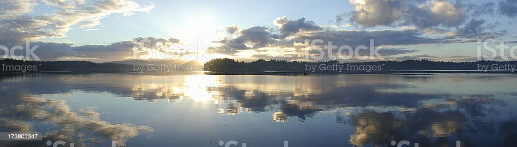 Blue Sunset, Puget Sound, United States - Royalty-free Beauty Stock Photo