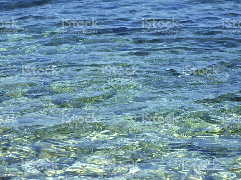 Blue surface of sea water royalty-free stock photo