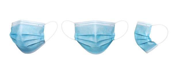 青の外科マスクの分離 - マスク ストックフォトと画像