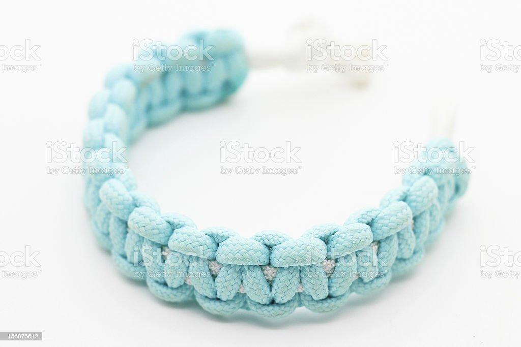 Blue Survival Bracelet stock photo