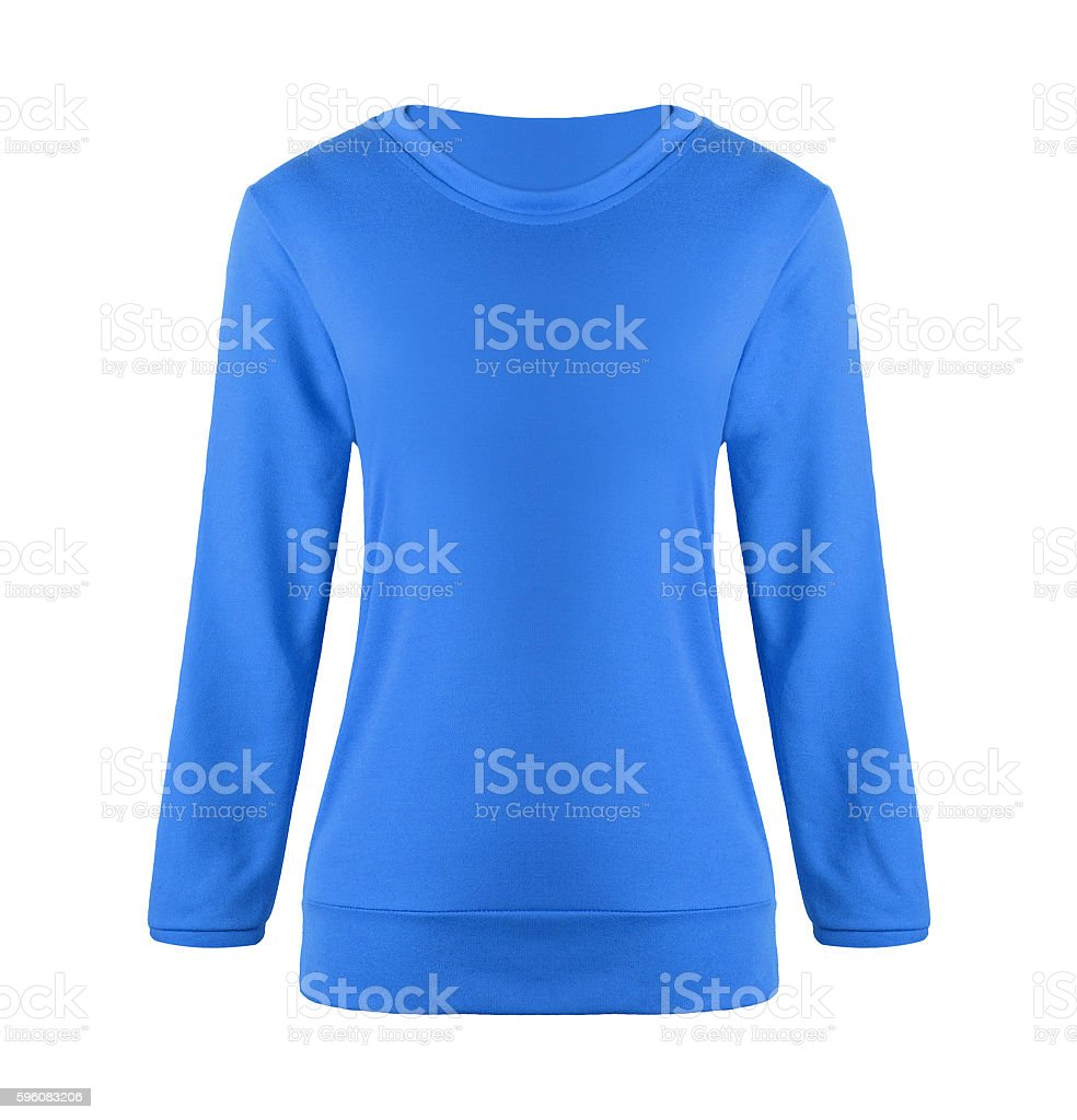 blue sweater isolated royalty-free stock photo