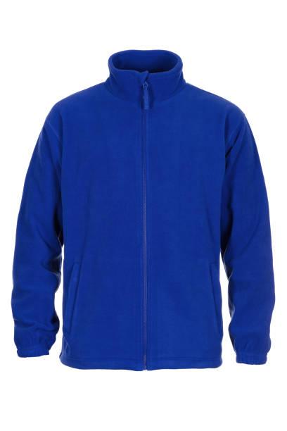 Blue sweatshirt fleece for man stock photo