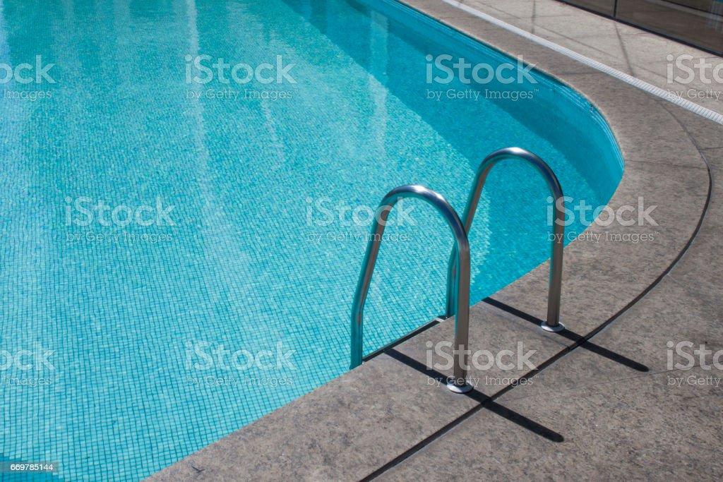 Blue Swiming Pool stock photo