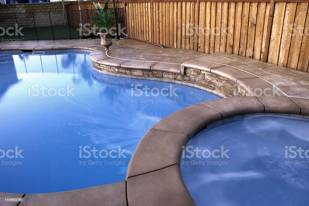 Blue Swimming Pool and Spa royalty-free stock photo