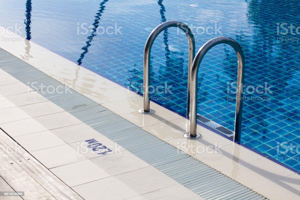 Blue Swimmingpool stock photo