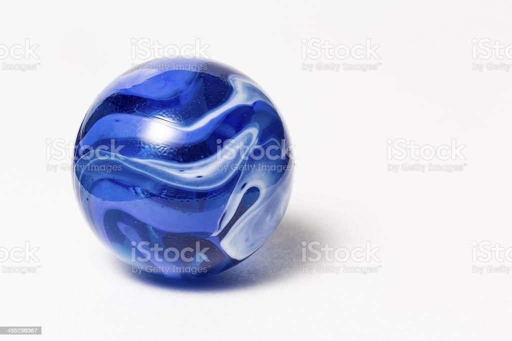 Azul redemoinho de mármore - foto de acervo