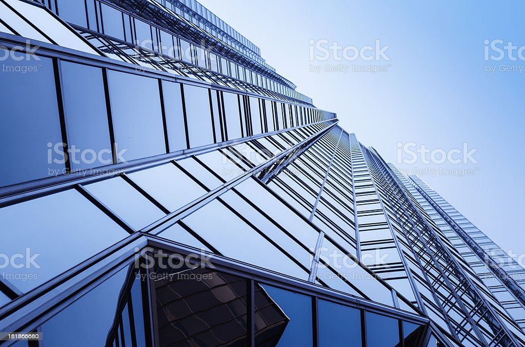 Blue tall skyscraper in Pittsburgh royalty-free stock photo