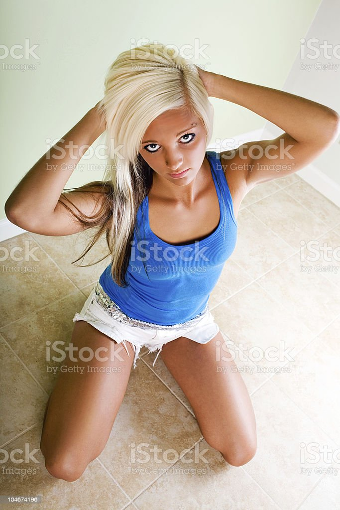 Blue tank top stock photo