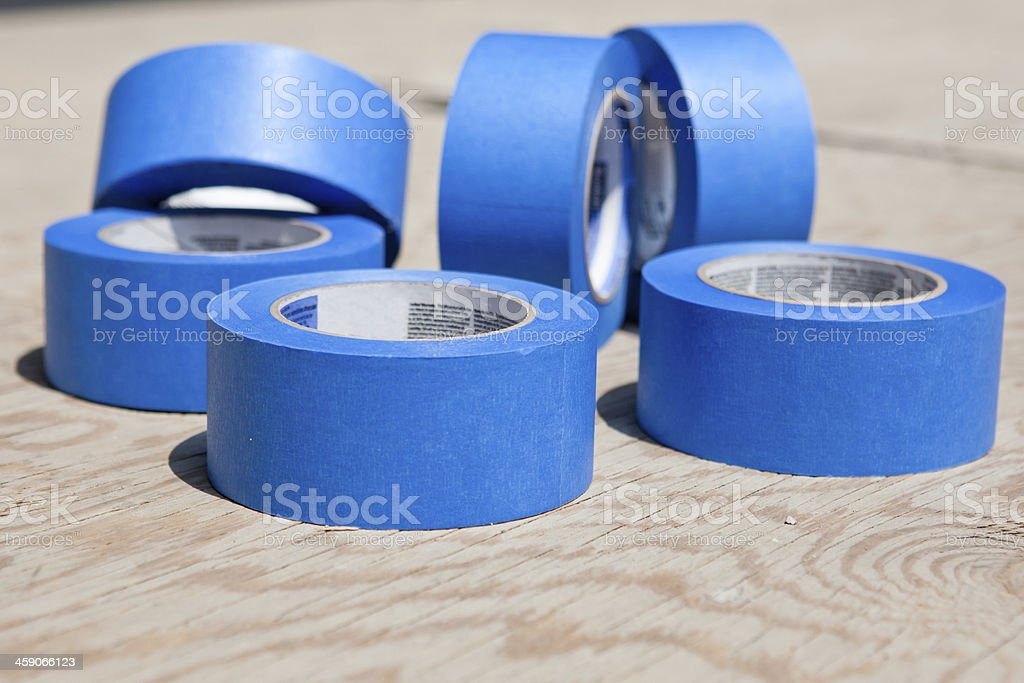 Blue tapes stock photo