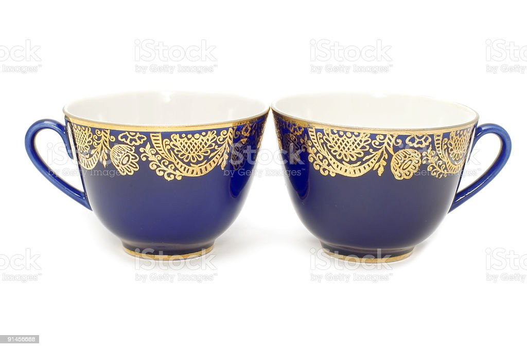 Blue teacup royalty-free stock photo
