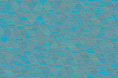 istock Blue Teal Gray Grunge Triangle Pattern Seamless Turquoise Rhomb Texture Geometric Minimalism Colorful Background Computer Graphic 1131421367