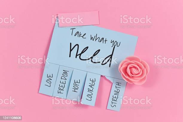 Blue tearoff stub note with text take what you need and words love picture id1241108606?b=1&k=6&m=1241108606&s=612x612&h=yf5pvobnqem5oai7bq8wko64tjyscz6shynduu889oo=