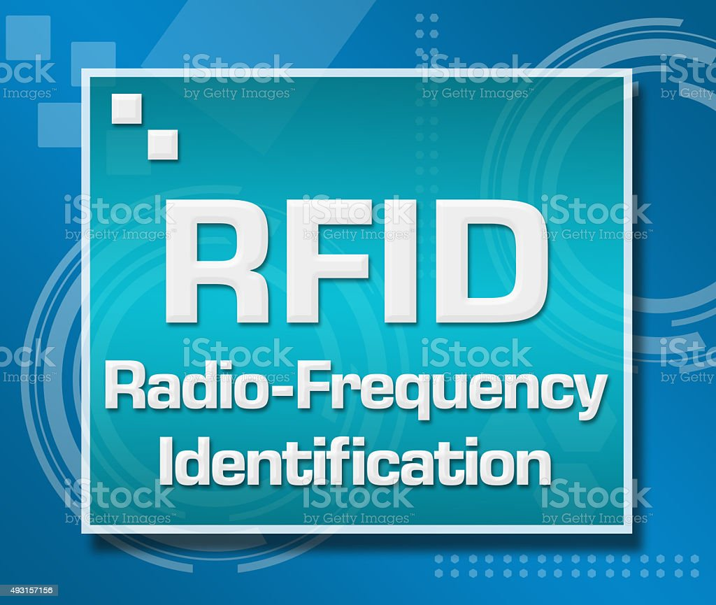 RFID Blue Technical Background stock photo