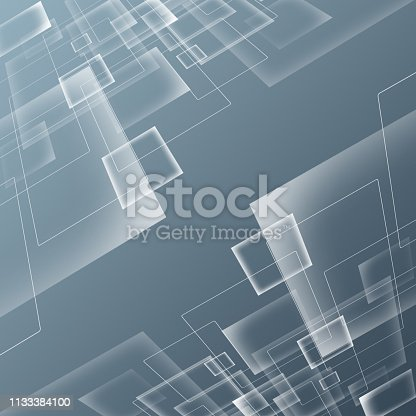 istock Blue technology background 1133384100