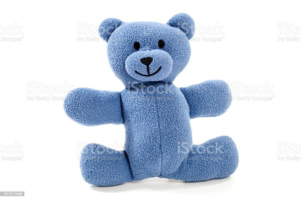 Blue Teddy Bear stock photo