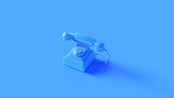 Blue Telephone stock photo