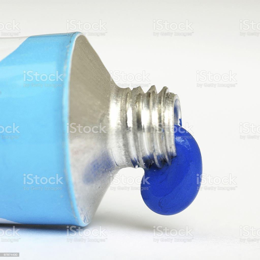 Blue tempera royalty-free stock photo