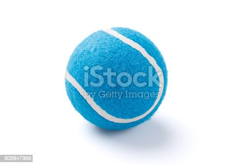 Blue Tennis ball Isolated on white