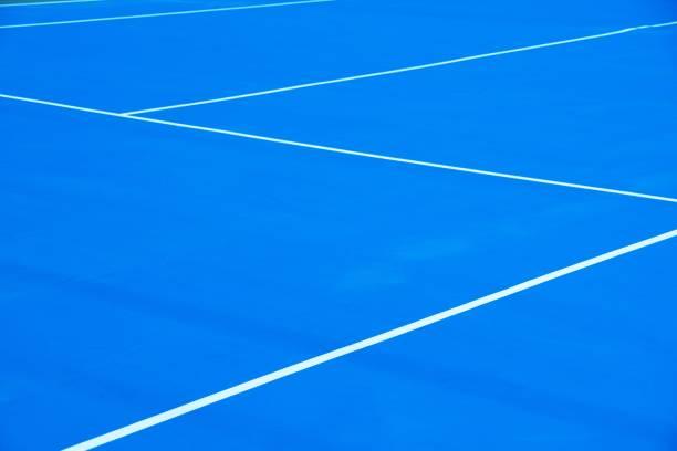 Tennisplatz-Blau – Foto