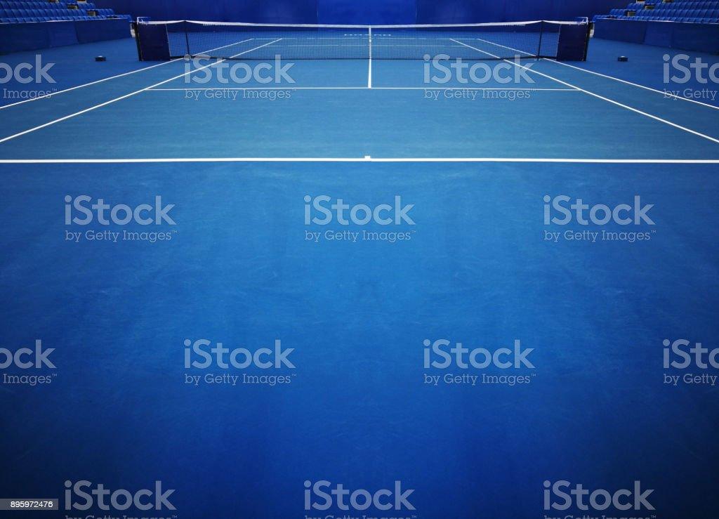 Blue Tennis Court Sport Background стоковое фото