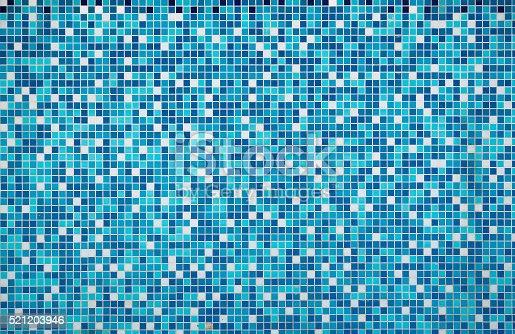 istock Blue texture Pool Tile 521203946