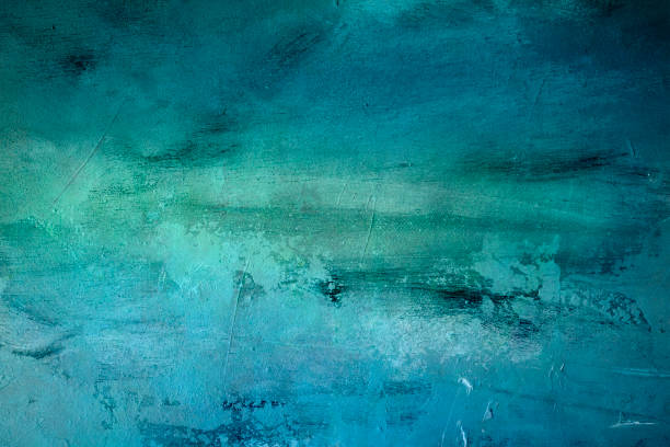 blue textured background abstract grungy painting background or texture turquoise colored stock pictures, royalty-free photos & images