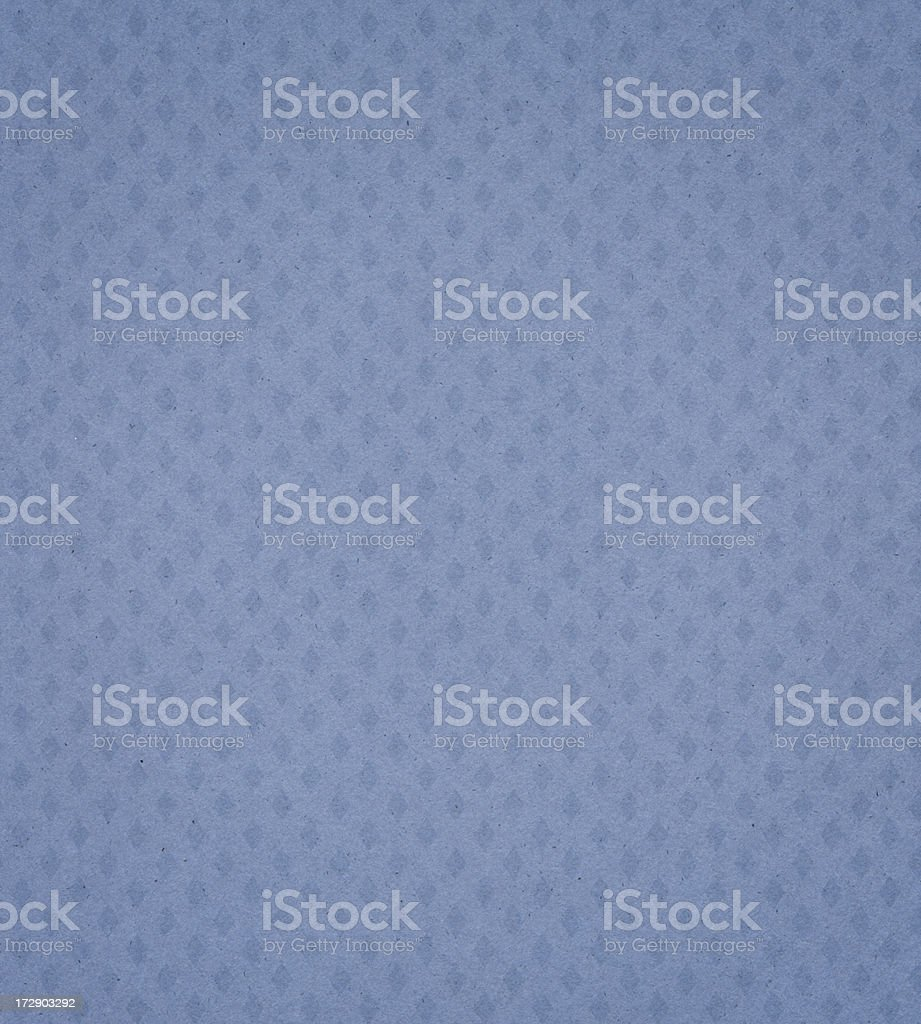 blue textured paper with diamond pattern stock photo
