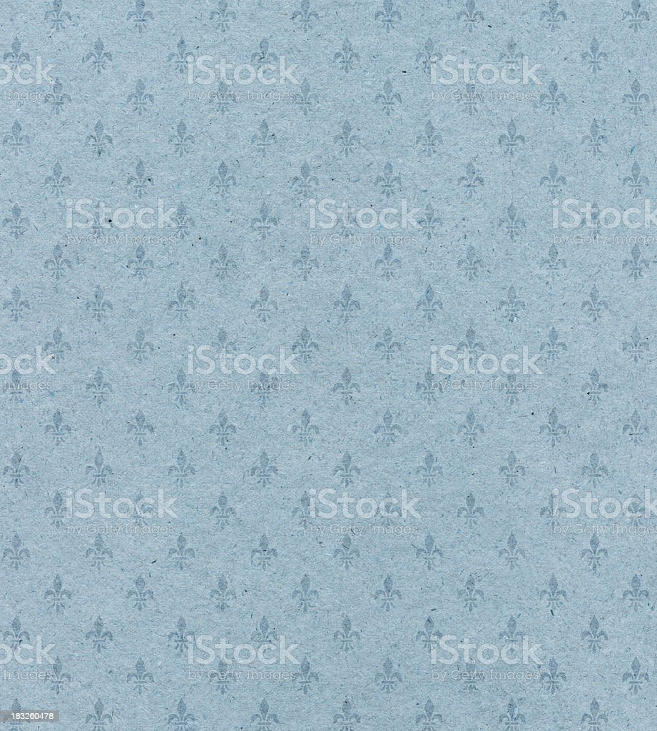 blue textured paper with symbol stock photo
