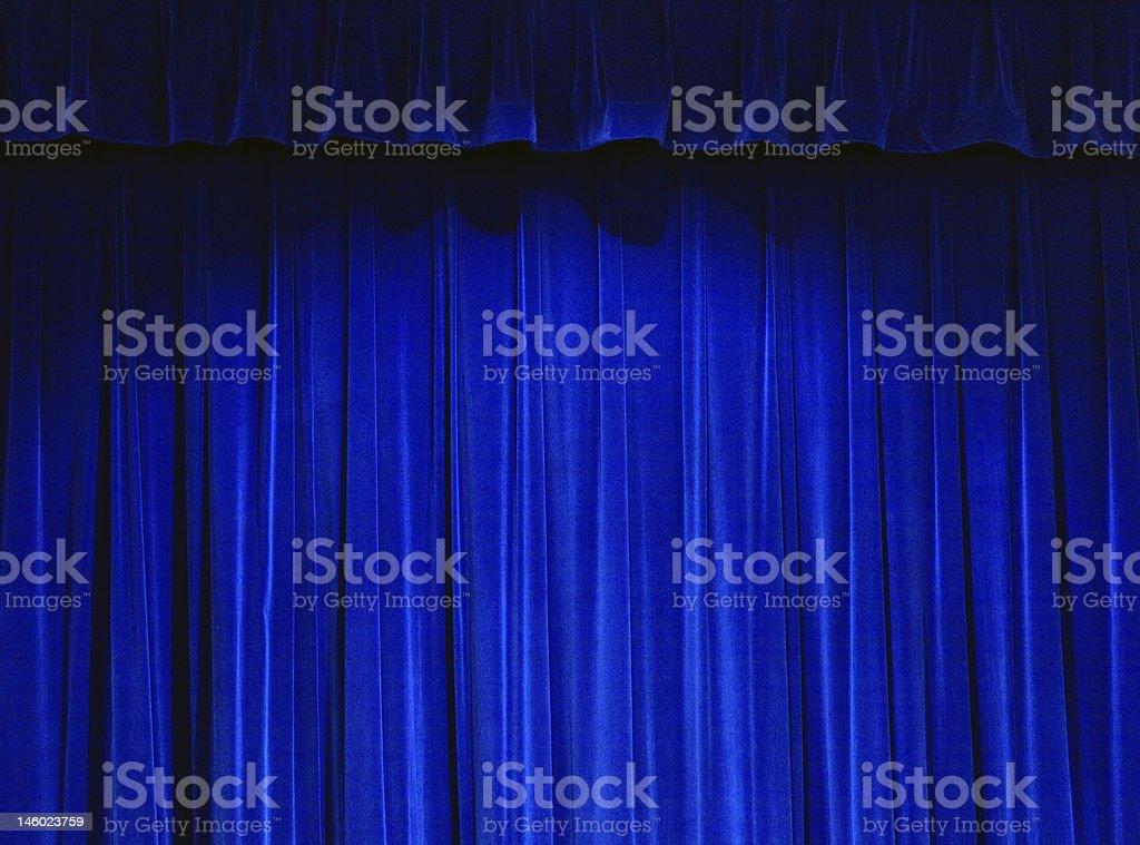 Blue Theater Curtain stock photo